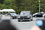Japan's new Emperor Naruhito looks from his vehicle upon departing at the Imperial Palace in Tokyo, Japan on May 1, 2019, the first day of the Reiwa Era. (Photo by Yohei Osada/AFLO)