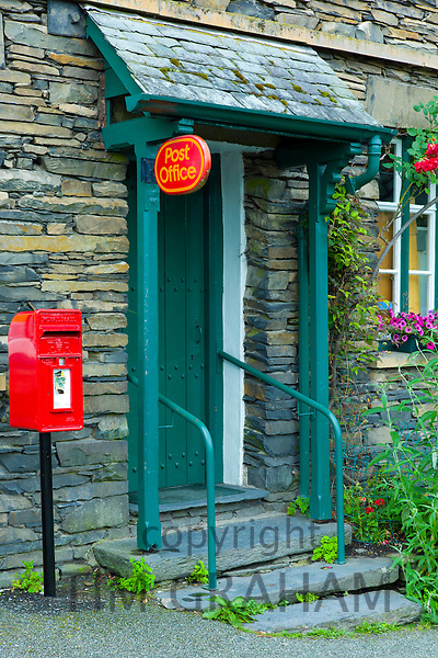 Quaint local post office and village shop at Troutbeck in the Lake District National Park, Cumbria, UK