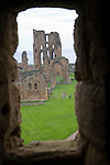 Tynemouth priory viewed from the castle, Northumberland, England