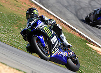 Race winner Josh Hayes in action, AMA Superbike Race, Road ATtanta, Braselton, GA .  (Photo by Brian Cleary/ www.bcpix.com )