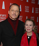 Maxwell Caufield and Juliet Mills attends the 'Hangmen' Opening Night After Party at the The Gallery at the Dream Downtown on February 5, 2018 in New York City.
