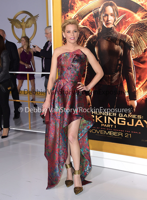 Elizabeth Banks at The  Los Angeles Premiere of The Hunger Games: Mockingjay - Part 1 held at  Nokia Theatre L.A. Live in Los Angeles, California on November 17,2014                                                                               © 2014 Hollywood Press Agency