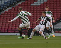 Stuart Findlay playing the ball to John Herron as he is tackled by Allan Smith in the Dunfermline Athletic v Celtic Scottish Football Association Youth Cup Final match played at Hampden Park, Glasgow on 1.5.13. ..