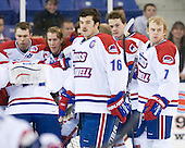 Riley Wetmore (UML - 16) - The University of Massachusetts-Lowell River Hawks defeated the University of Alabama-Huntsville Chargers 3-0 on Friday, November 25, 2011, at Tsongas Center in Lowell, Massachusetts.
