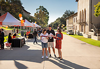 Courtney Stricklin Burgan '03, Sr. Assistant Dean of Admission<br /> Explore Occidental - Fall Preview Day, Friday, November 9, 2018.<br /> Fall open house to give prospective students and their families the opportunity to explore Occidental with tours of campus, student and faculty-led discussions, the ability to sit in on a class, and to learn what it means to be an Oxy Tiger.<br /> (Photo by Marc Campos, Occidental College Photographer)