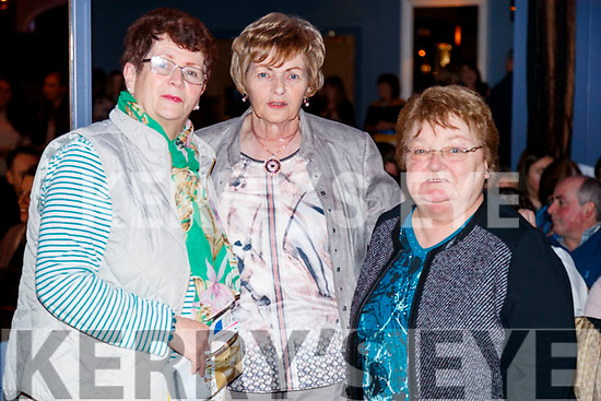Pat De Brún, Cathy Corduff and Joan Dillane, pictured at Sickly Come Dancing, UHK, at Ballygarry House Hotel & Spa, Tralee on Friday night last