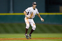 Dylan Petrich #27 of the Texas A&M Aggies takes his lead off of second base versus the Houston Cougars in the 2009 Houston College Classic at Minute Maid Park March 1, 2009 in Houston, TX.  The Aggies defeated the Cougars 5-3. (Photo by Brian Westerholt / Four Seam Images)