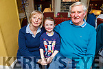 Little Réidín Spillane taking her nan and granddad Greta and Jimmy Joe Spillane from the Maherees out for a special evening in the Brogue Inn on Saturday night.