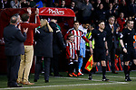 Billy Sharp of Sheffield Utd leads out the team during the English League One match at Bramall Lane Stadium, Sheffield. Picture date: April 5th 2017. Pic credit should read: Simon Bellis/Sportimage