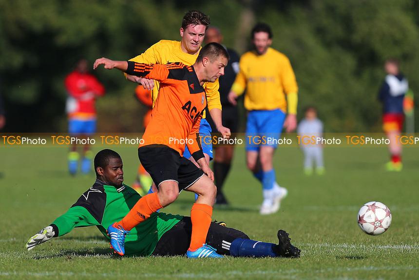 Mile End (yellow) vs FC Krystal, Hackney & Leyton Sunday League Football at Hackney Marshes on 23rd October 2016