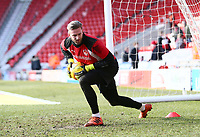 Chris Neal of Fleetwood Town warming up prior during the Sky Bet League 1 match between Doncaster Rovers and Fleetwood Town at the Keepmoat Stadium, Doncaster, England on 17 February 2018. Photo by Leila Coker / PRiME Media Images.