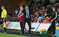 West Ham United manager Slaven Bilic gestures on the touchline during the Barclays Premier League match between Swansea City and West Ham United played at The Liberty Stadium, Swansea on 20th December 2015