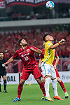 Shanghai FC Forward Givanildo Vieira De Sousa (Hulk) (L) fights for the ball with Jiangsu FC Forward Roger Beyker Martinez (R) during the AFC Champions League 2017 Round of 16 match between Shanghai SIPG FC (CHN) vs Jiangsu FC (CHN) at the Shanghai Stadium on 24 May 2017 in Shanghai, China. Photo by Marcio Rodrigo Machado / Power Sport Images