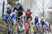 Luke Row (GBR/Team Sky) well positioned on the Oude Kwaremont<br /> <br /> 69th Kuurne-Brussel-Kuurne 2017 (1.HC)