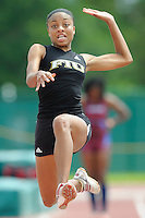 22 March 2008:  Florida International's Patrice Leslie competes in the long jump during the 2008 Hurricane Invitational at Cobb Stadium in Coral Gables, Florida.