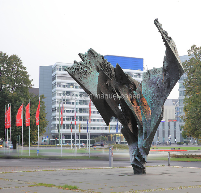 The Flame sculpture, 1962-63, by Bernhard Heiliger, 1915-95, on Ernst Reuter Platz, Berlin, Germany. The square is named after the first mayor of Berlin after the war, 1949-53, who represented a flame of hope for Berliners. Picture by Manuel Cohen