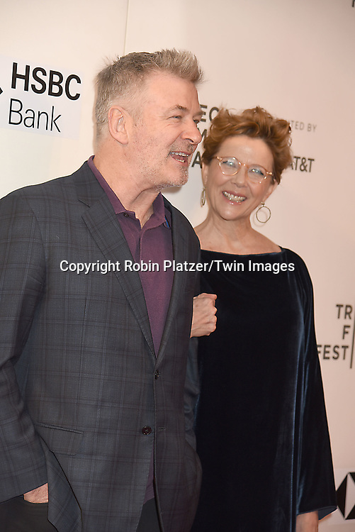 "Alec Baldwin and Annette Bening attends ""The Seagull"" Screening at the Tribecca Film Festival at BMCC on April 21, 2018 in New York City, New York, USA.<br /> <br /> photo by Robin Platzer/Twin Images<br />  <br /> phone number 212-935-0770"