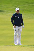 Richie Ramsay (SCO) prepares to chip onto the 5th green during Sunday's Final Round of the 2014 BMW Masters held at Lake Malaren, Shanghai, China. 2nd November 2014.<br /> Picture: Eoin Clarke www.golffile.ie