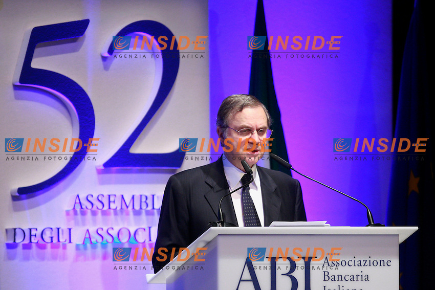 Ignazio Visco.Roma 10/07/2012 54°Assemblea Annuale dell'ABI 2012 (Associazione Bancaria Italiana).Photo Samantha Zucchi Insidefoto