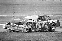 HAMPTON, GA - NOV 3:  Sammy Swindell sits in his car after crashing during the Atlanta Journal 500 NASCAR Winston Cup race at Atlanta Motor Speedway, November 3, 1985. (Photo by Brian Cleary/www.bcpix.com)