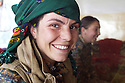 Iraq 2015  Akheen, 18 years old, a young Yezidi fighter of &Ecirc;zidxan Women&rsquo;s units ( YI&Ecirc; )<br />