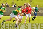 6565-6568.Kerry's Anna Galvin and Cork's Rachel Sheehan.