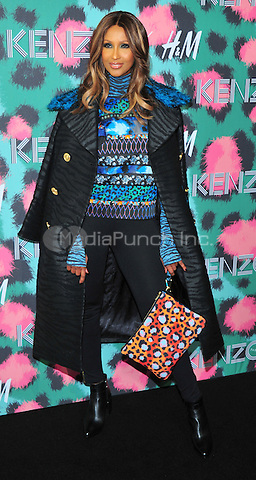 NEW YORK, NY - OCTOBER 19: Iman attends KENZO x H&M - Arrivals at Pier 36 on October 19, 2016 in New York City. Credit: John Palmer / MediaPunch
