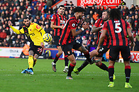 Etienne Capoue of Watford has a shot on goal during AFC Bournemouth vs Watford, Premier League Football at the Vitality Stadium on 12th January 2020