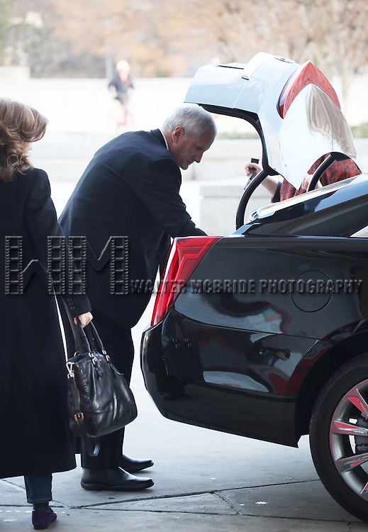 Caroline Kennedy & husband Edwin Arthur Schlossberg attending the Rehearsals for the 35th Kennedy Center Honors at Kennedy Center in Washington, D.C. on December 2, 2012