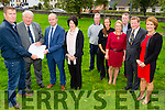 On Friday on the Village Green Ardfert Trevor Giles who handed over the deeds of the Village Green Ardfert to Maurice O'Driscoll (Chairperson of Ardfert Community Council). L-r: Maurice O'Driscoll,Trevor Giles, Niall Lucy and Katie McCarthy (Pierce & McCarthy Solicitors,Tralee), Patrick Murphy,(manager Ardfert Community Centre),Tara O'Halloran-Quirke,Barbara O'Grady,Sean Dineen,Dany Giles and Angela Ryan.
