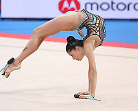 September 13, 2018 - Sofia, Bulgaria - MELINA BALDASSARRI of Italy performs clubs routine during EF at 2018 World Championships.