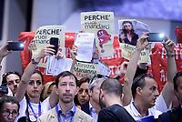 Roma, 23 Maggio 2017<br /> Lavoratrici e lavoratori di ACI Informatica contestano la ministra Marianna Madia<br /> Forum Pubblica Amministrazione 2017 presso il Roma Convention Center - La Nuvola