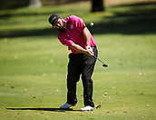 9th February 2018, Lake Karrinyup Country Club, Karrinyup, Australia; ISPS HANDA World Super 6 Perth golf, second round; Andrew Johnston (ENG) hits off the fairway