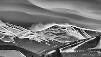 A windswept peak above the Winter Park Ski area near the Great Divide in Colorado.