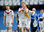 Rory McAllister salutes the travelling fans from Peterhead