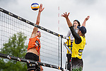 09.05.2015, Muenster, Schlossplatz<br /> smart beach tour, Supercup MŸnster / Muenster, Hauptfeld<br /> <br /> Angriff Tim Holler - Block Thomas Kršger / Kroeger<br /> <br />   Foto &copy; nordphoto / Kurth