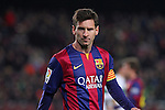 08.01.2014 Barcelona, Spain. Spanish Cup. Picture show Leo Messi in action during game between FC Barcelona against Elche at Camp Nou