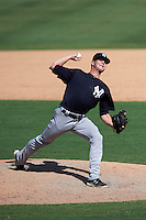 New York Yankees pitcher Hobie Harris (53) during an Instructional League game against the Philadelphia Phillies on September 27, 2016 at Bright House Field in Clearwater, Florida.  (Mike Janes/Four Seam Images)