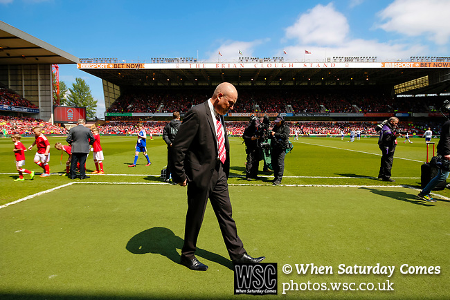 Nottingham Forest 3 Ipswich Town 0, 07/05/2017. City Ground, Championship. Mark Warburton Manager of Nottingham Forest before the game between Nottingham Forest v Ipswich Town at the City Ground Nottingham in the SkyBet Championship. Photo by Paul Thompson.