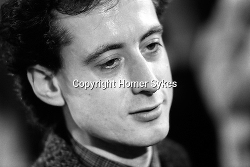 Peter Tatchell election night just lost to Simon Hughes, south London 1983. UK... Bermondsey by-election