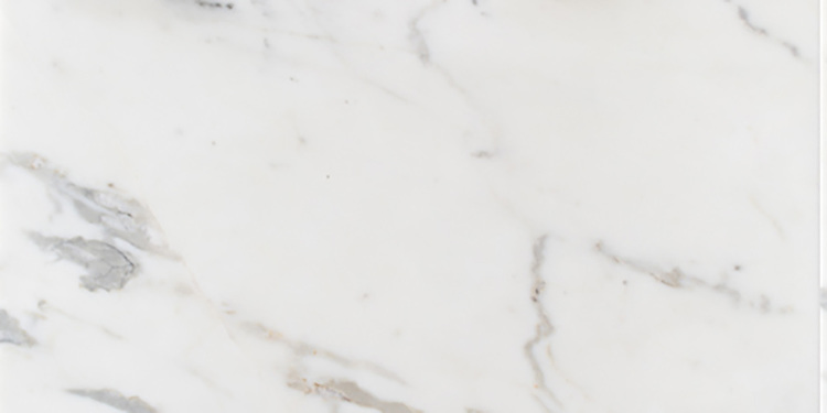 """Calacatta Tia slab. Available in 2cm slab with polished finish, 12"""" x 12"""" x 3/8"""" with polished finish, 12"""" x 24"""" x 3/8"""" with honed finish.<br /> Slab size varies. Please request price quote, dimensions, and lot photo prior to each order."""