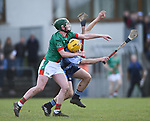 Niall Coss of St Fergal's College in action against Mark Rodgers of Scariff Community College during their All-Ireland Colleges final at Toomevara. Photograph by John Kelly.