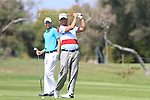 Pablo Larrazabal (ESP) and Rhys Davies (WAL) in action on the 16th hole during Day 3 Saturday of the Open de Andalucia de Golf at Parador Golf Club Malaga 26th March 2011. (Photo Eoin Clarke/Golffile 2011)