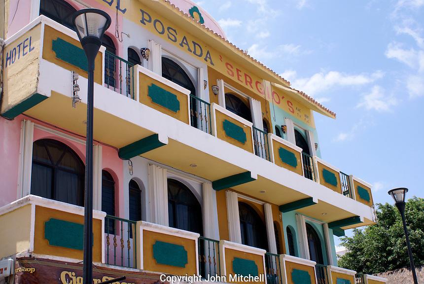 Hotel on Fifth  Avenue or Quinta Avenida in Playa del Carmen, Riviera Maya, Quintana Roo, Mexico.