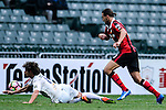 FC Seoul Forward Dejan Damjanovic (c) takes on Auckland City Midfielder Albert Riera (l) during the 2017 Lunar New Year Cup match between Auckland City FC (NZL) vs FC Seoul (KOR) on January 28, 2017 in Hong Kong, Hong Kong. Photo by Marcio Rodrigo Machado/Power Sport Images