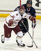 Colin White (BC - 18), Brian Morgan (UConn - 28) - The Boston College Eagles defeated the visiting UConn Huskies 2-1 on Tuesday, January 24, 2017, at Kelley Rink in Conte Forum in Chestnut Hill, Massachusetts.