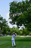 Jon Rahm (ESP) hits his approach shot on 3 during round 2 of the Dean &amp; Deluca Invitational, at The Colonial, Ft. Worth, Texas, USA. 5/26/2017.<br /> Picture: Golffile | Ken Murray<br /> <br /> <br /> All photo usage must carry mandatory copyright credit (&copy; Golffile | Ken Murray)