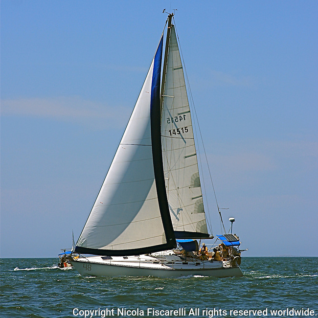 The sail boat participates in 2009 Regatta    of the coast of La Cruz.