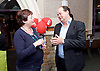 Stephen Hammond, Conservative candidate for Wimbledon and the former parliamentary under-secretary of State for Transport is on the general election campaign trail in Wimbledon today (Monday 15th May 2017). <br /> <br /> Visiting the Merton Mencap Caf&eacute;, open every Monday at Holy Trinity Church in The Broadway it offers a range of healthy home-made dishes &amp; is run by adults with a learning disability, supported by Merton Mencap staff and volunteers. <br /> <br /> Hammond who has an 11,408 majority (24.1%) met some of the workers who have learning disabilities including George Cary, Richard Dorris, Anna Caldicott and Neil Weddell. <br /> <br /> <br /> <br /> pictured L to R:<br /> Ruth Abbott (Project Manager Adults Mencap) Stephen Hammond <br /> <br /> <br /> Photograph by Elliott Franks <br /> Image licensed to Elliott Franks Photography Services