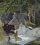Claude Monet - Luncheon on the Grass, Central panel (1865). Paris, musée d'Orsay.